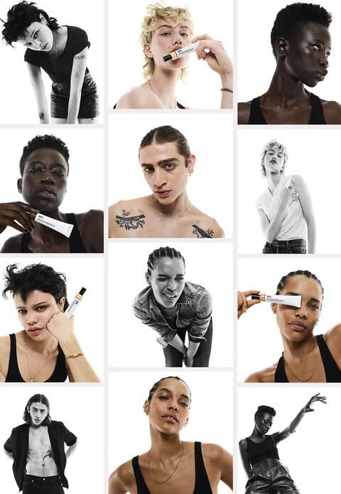 collage of NU models