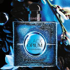 blue black opium bottle